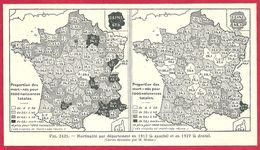 Mortalité Par Département Des Bébés Mort Nés En 1912 Et 1927, Larousse Médical 1929 - Other