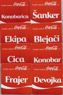 8 Different Coca Cola Coasters From Serbia FREE SHIPPING - Posavasos (Portavasos)