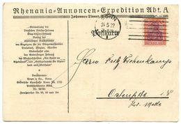 Germany 1922 Postcard Bonn - Johannes Tinner, Rheania-Annoncen-Expedition, Scott 130 - Germany