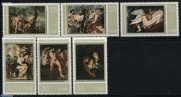 Germany, Ddr 1977 Rubens Paintings 6v, (Mint NH), Art - Paintings - Rubens - Nature - Dogs - [6] Democratic Republic