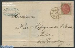 Denmark 1871 Folding Letter From Copenhagen, (Postal History), Stamps - 1851-63 (Frederik VII)