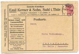 Germany 1921 Postcard Shul - Emil Kerner & Sohn, Gewehr-Fabriken To Ostenfelde - Germany
