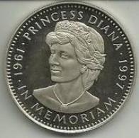 5 Dollares 1997 Liberia (Nikel Proof) - Liberia