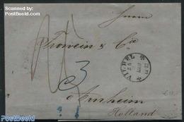 Germany, Empire 1860 Letter From Vilbel To Arnheim (NL), (Postal History), Stamps - Allemagne