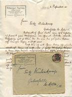 Germany 1920 Cover & Letter Königsee, Thür. - Rittergut Aschu, Richard Vollrath - Germany