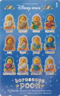 Télécarte Japon / MF-1000589 - DISNEY STORE - ZODIAQUE POOH - ZODIAC Hoeoscope Japan Phonecard - Disney