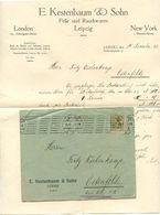 Germany 1921 Cover & Letter Leipzig - E. Kestenbaum & Sohn, Felle Und Rauchwaren - Deutschland