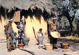 Afrique-CÔTE D'IVOIRE Scène Villageoise  ( - Editions  HOA-QUI 5027) *PRIX FIXE - Côte-d'Ivoire