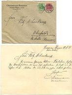 Germany 1921 Cover & Letter Genthin - Oberamtmann Braumann To Ostenfelde - Germany
