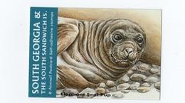 B23 South Georgia Booklet Elephant Seal Marine Mammal Adhesive - South Georgia