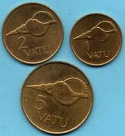 (r65)   VANUATU  1 + 2 + 5 Vatu  1999 - Vanuatu