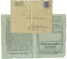 Germany 1920's Cover & Advertisement Niddawitzhausen To Ostenfelde - Deutschland