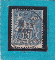 SAGE N° 90 TYPE IIC  état 4  + CACHET  PARIS   /  DEPART  23 MARS 1895     - REF ACDIV - 1876-1898 Sage (Type II)