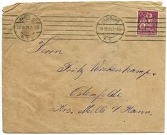 Germany 1921 Cover Hamburg To Ostenfelde Krs. Melle - Germany