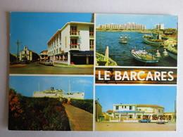 CP LE BARCARES - Multivue L'église ,  Le Port  Lamparo  , Le Lydia , Restaurant Le Casablanca  Voiture Simca  Et Peugeot - Port Barcares