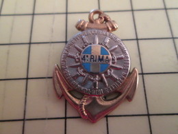 513h Pin's Pins : BEAU ET RARE :  THEME MILITARIA / INSIGNE PUCELLE DU 4e RIMA ANCRE ET CORDAGE Par BOUSSEMART - Army