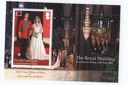 B23 South Georgia Mini-Sheet Royal Wedding MNH 2011 - South Georgia