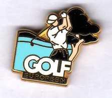 Pin's   Golf  Européen  Zamac Arthus Bertrand Paris - Arthus Bertrand