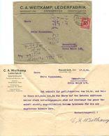 Germany 1924 Cover & Letter Osnabrück - C.A. Weitkamp, Lederfabrik - Germany