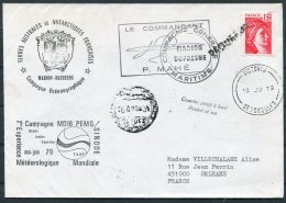 1979 TAAF Antarctic Paquebot Marion Dufresne Ship Cover. Seychelles Polar France - French Southern And Antarctic Territories (TAAF)