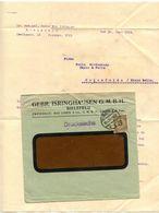 Germany 1924 Cover & Letter Bielefeld - Gebr. Isringhausen To Ostenfelde - Germany