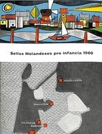 Philatelic Folders 1960 Original Dutch Promotional Folder From 1960, Child Welfare, Spanish Language, (Mint NH), Costume - Costumes