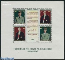 Gabon 1971 Charles De Gaulle S/s, (Mint NH), History - Politicians - Gabon (1960-...)