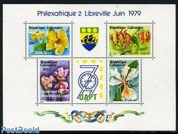 Gabon 1979 Flowers S/s, (Mint NH), Nature - Flowers & Plants - Gabon (1960-...)