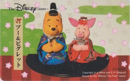 Télécarte Japon / 110-209930 - DISNEY STORE - Ours WINNIE POOH & COCHON Pig - Japan Phonecard - Disney