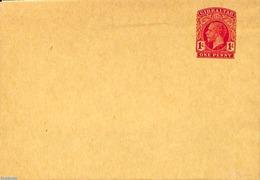 Gibraltar 1911 Wrapper 1d, (Unused Postal Stationary), Stamps - Gibraltar