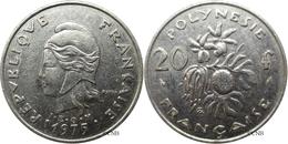 Polynésie Française - 20 Francs 1975 - TTB - Mon2887 - French Polynesia