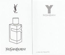 Yves Saint Laurent      Dernier Parfum D'YSL **Y** R/V - Cartes Parfumées
