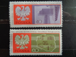 POLOGNE Y&T  N° 1577 & 1578 ** -  MILLENAIRE DE LA POLOGNE - 1944-.... République