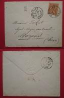 FRANCE Lettre SENAT 1901 Timbre Mouchon Oblitération PARIS SENAT - Marcophilie (Lettres)