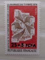REUNION CFA 1974 CERES N° 422 ** - JOURNEE DU TIMBRE SURCHARGES - Réunion (1852-1975)