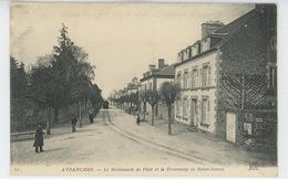 AVRANCHES - Le Boulevard De L'Est Et Le Tramway De Saint James - Avranches
