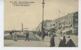 BOULOGNE SUR MER - Boulevard Sainte Beuve Et Statue San Martin (tramway ) - Boulogne Sur Mer
