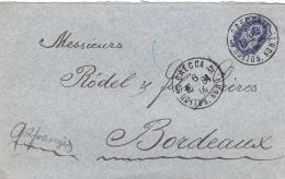 RUSSIE RUSSIA :  Lettre D'Odessa Pour Bordeaux CaD De 1894 - 1857-1916 Empire