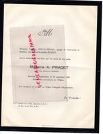 87- EYMOUTIERS-06-NICE- RARE FAIRE PART DECES MME A. PRADET NEE CATHERINE ROUGER-1963-CHARLES NERVAL TETAUD-SIMONE PRADE - Décès