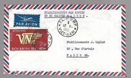 Vietnam  Lettre De Saïgon 10  08  1952 Vers Paris - Vietnam