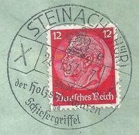 """Werbestempel  """"Steinach (Thür.) - Stadt Der Holzspielwaren Und Schiefergriffel""""          1937 - Gebraucht"""