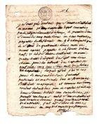 ACTE NOTARIÉ . CONCERNANT FAMILLES BATTEDAT ET HIARD . SAINT-SEVER . LANDES . 11 BRUMAIRE AN 5 - Réf. N°144F - - Manuscripten