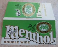 """Carnet De Papier à Cigarettes """" JOB  """" Cool Menthol Double Wide - Cigarette Paper - Sole Distributors U.S.A - Empty Cigarettes Boxes"""