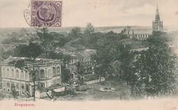 CPA Singapour  Circulée 1907 - Singapore