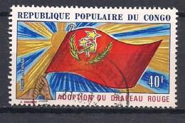YT N° PA 141 - Oblitéré - Adoption Du Drapeau Rouge - Congo - Brazzaville