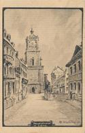 62) LENS : Carte Illustrée Allemande - Hauptstrass - 1.WK - WW1 - Weltkrieg - Guerre - (1916) - Lens