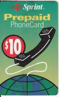 PUERTO RICO -  SPRINT Prepaid Card $10, Exp.date 31/12/03, Used - Puerto Rico