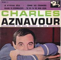 CHARLES AZNAVOUR - Je M'voyais Déjà - EP - 45 Rpm - Maxi-Single