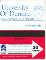 SCOTLAND - University Of Dundee, IPL(Scotland) Telecard 20 Units(blue Logo On Reverse), Tirage 10000, 03/92, Used - Other - Europe