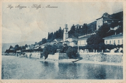 LAGO MAGGIORE GHIFFA VEDUTA DEL CENTRO D'EPOCA ANNO 1926 VIAGGIATA FTO PICCOLO - Verbania